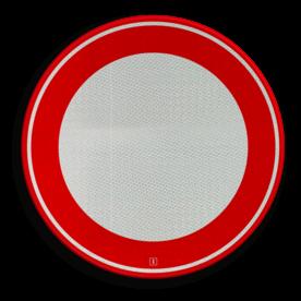 Verkeersbord Gesloten in beide richtingen voor voertuigen, ruiters en geleiders van rij- of trekdieren of vee Verkeersbord RVV C01 - Gesloten voor alle verkeer C01 soepbord, geslotenverklaring, verboden in te rijden, geen toegang, verbodsbord, c1