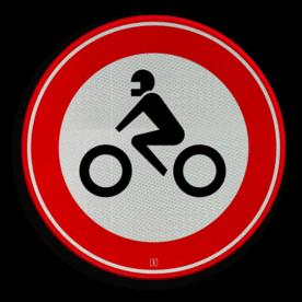 Verkeersbord Gesloten voor motorfietsen Verkeersbord RVV C11 - Gesloten voor motorfietsen C11 verbodsbord, verboden voor motoren, geen motor, verboden, C11