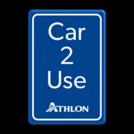 Informatiebord parkeerplaats - Car 2 Use zwanger, pregnant, parkeerplek, vrouw, buik, unilever
