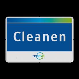 Afval- locatieborden rechthoek in huisstijl Renewi