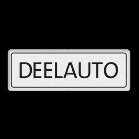 Onderbord wit/zwart - eigen ontwerp wit/zwart zelf tekstbord maken, tekst invoeren, verkeersbord, onderbord, 1 regelig