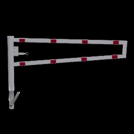 Draaiboom (SH2) 0,95 mtr. - Automatisch Vergrendeld - Bodemmontage (verzinkt) draaiboom, slagboom, draaipaal, draaipoort, oversteek, klaarover, school, zebrapad