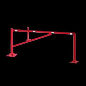 Draaiboom (SH3) 0,95 mtr. - Bodemmontage met twee vangpalen draaiboom, slagboom, draaipaal, draaipoort, oversteek, klaarover, school, zebrapad