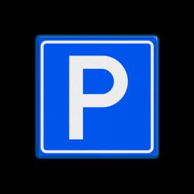 Verkeersbord Parkeergelegenheid Verkeersbord RVV E04 parkeerplaats, E4