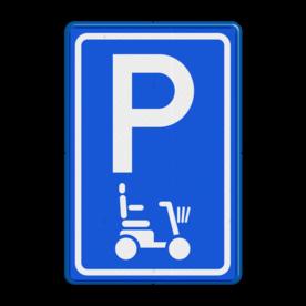 Parkeerbord type E08 scootmobiel parkeerplaats voor scooters