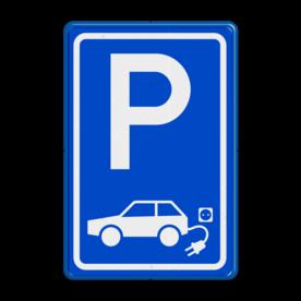 Verkeersbord elektrische auto - BE04a BE04a E8, E08, Parkeerbord, parkeerplaats, eigen plaats, parkeren, RVV E04, p bord, BW101 SP19 - autolaadpunt, autolaadpunt, oplaadpalen, oplaadpaal, BE04, elektrisch, Opladen, Laadpaal