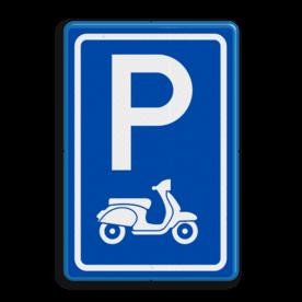 Parkeerbord type E08 scooters parkeerplaats voor scooters