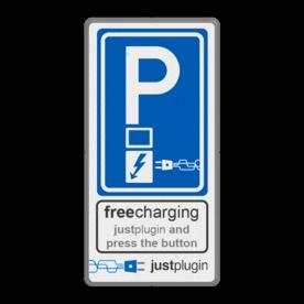 Parkeerbord Elektrisch parkeren in huisstijl logo, volkerrail, homij