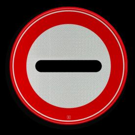 Verkeersbord STOP (in het bord kan worden aangegeven door wie of waarom het bord wordt toegepast) Verkeersbord RVV F10 - Stoppen / halthouden F10 verbodsbord, verboden, F10
