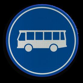 Verkeersbord ** NIEUW RVV - GELDIG vanaf 01-01-2017 ** Rijbaan of rijstrook uitsluitend ten behoeve van lijnbussen. Verkeersbord RVV F13 - Rijbaan of -strook bussen F13 nieuw, bus