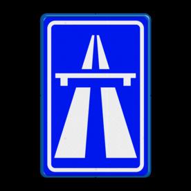 Verkeersbord Autosnelweg  Verkeersbord RVV G01 - Autosnelweg G01 snelweg, G1