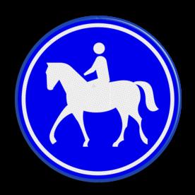 Verkeersbord Ruiterpad Verkeersbord RVV G09 - Ruiterpad G09 paard, amazone, wandelpad, G9, ruiterpad, paardrijden