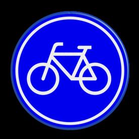 Verkeersbord Verplicht fietspad Verkeersbord RVV G11 - Fietspad G11 fietsen, G11