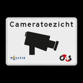 Verkeersbord cameratoezicht + huisstijl politie en/of (uw) bedrijfsnaam cameratoezicht, VPRO