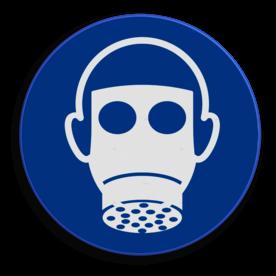 Veiligheidspictogram Gasmasker dragen is verplicht Veiligheidspictogram - Gasmasker dragen verplicht - M017 NEN7010, veiligheidspictogram, gasmasker, verplicht, gas, masker