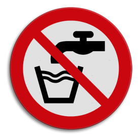 Veiligheidspictogram - Geen drinkwater - P005  Drinken, consumeren, drink water, water, kraan,