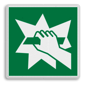 Veiligheidspictogram Geleiderail Veiligheidspictogram - Breken om toegang te verkrijgen - E008 Geleiderail, vangrail, snelweg