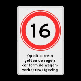 Verkeersbord RVV A01-xxx met ondertekst cadeau, kado, Zonebord , A01-30