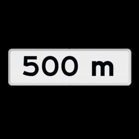 Verkeersbord Onderbord - Afstands-aanduiding na ... M Verkeersbord RVV OB401- meter - Onderbord - Afstands-aanduiding na ... M OB401 meter, wit bord, OB401 meter