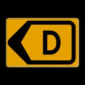 Tekstbord - T201l-d - Werk in uitvoering Tekstbord, WIU bord, tijdelijke verkeersmaatregelen, werk langs de weg, omleidingsborden, tijdelijk bord, werk in uitvoering, gevaarlijk terrein, drijf zand