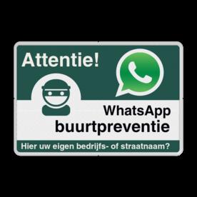 WhatsApp Attentie Buurtpreventie Informatiebord 01 - L209wa L209wa Whats App, WhatsApp, watsapp, preventie, attentie, buurt, L209, wijkpreventie, straatpreventie, dorppreventie