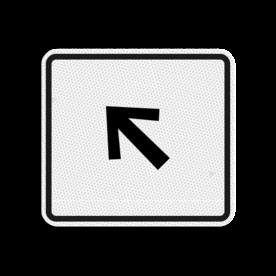 Ruiterroutebord 119x109mm pijlfiguratie - klasse 3 119x109, Ruiterroute, Route, Ruiter, huisnummerpaal, Pijl, Pijlverwijzing, Richting