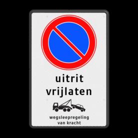 Parkeerverbod Parkeerverbod, eigen tekst + wegsleepregeling Parkeerverbod RVV E01 - eigen tekst - wegsleepregeling parkeerbord, verboden te parkeren, eigen terrein, parkeerverbod, wegsleepregeling, eigen tekst invoeren, uitrit vrijlaten, E1