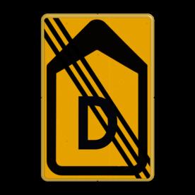Tekstbord - T201b-de - Werk in uitvoering Tekstbord, WIU bord, tijdelijke verkeersmaatregelen, werk langs de weg, omleidingsborden, tijdelijk bord, werk in uitvoering, gevaarlijk terrein, drijf zand