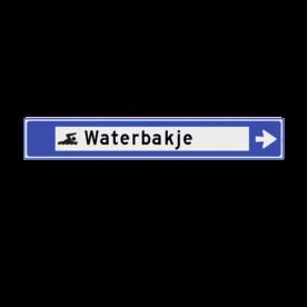 Verwijsbord watersport 1130x175x32mm anwb bewegwijzering, verwijsborden, Zwembad, Zwembad , overdekt), Zeilschool / haven, Surfstrand, Kanoverhuur / kade, Hengelsport, Zwemwater open, Strand, Haven pleziervaart, Rondvaart