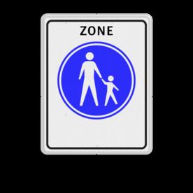 Verkeersbord Start voetgangerszone Verkeersbord RVV G07zb - Start voetgangerszone G07zb voetgangers, wandelpad, G7, G7zb, voetpad, zone