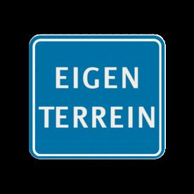 TBT EIGEN TERREIN 119x109mm - klasse 3 Terreinbord, 119x109, EIGEN TERREIN