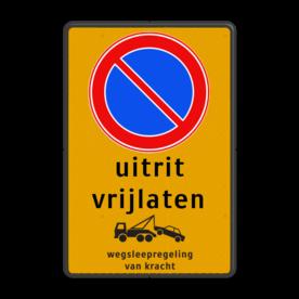 Parkeerverbod Parkeerverbod, eigen tekst + wegsleepregeling Parkeerverbod RVV E01 + eigen tekst + wegsleepregeling parkeerbord, verboden te parkeren, eigen terrein, parkeerverbod, wegsleepregeling, eigen tekst invoeren, E1, fluor