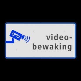 Informatiebord  videobewaking camera, bewaking, anwb bord, eigen terrein, bewegwijzering, beveiliging, videoregistratie