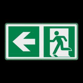Veiligheidspictogram - Vluchtroute naar links Vluchtroute