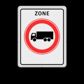 Verkeersbord RVV C07zb - zone - Gesloten voor vrachtauto's Zonebord , A01-30