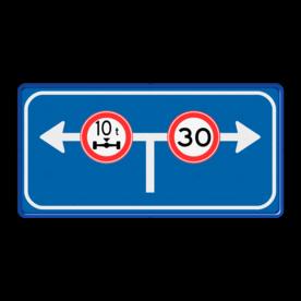 Verkeersbord afgesloten voor verkeer Verkeersbord RVV L10-02lr beperking l10, versperring, geen doorgang, L10, vooraanduiding, voorwaarschuwing, verkeersmaatregel