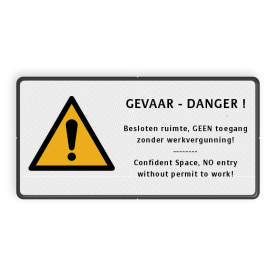Product Algemene waarschuwing Veiligheidspictogram - Algemene Waarschuwing + eigen tekst - W001 Algeem, waarschuwing, pas op