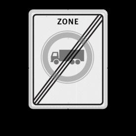 Verkeersbord RVV C07zbe - einde zone - Gesloten voor vrachtauto's Zonebord , A01-30