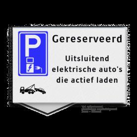 Parkeerplaatsbord LET OP ! is een vlak uitgevoerd bord t.b.v. montage tegen vlakke wand (kan NIET tegen op paal of spijlenhek gemonteerd worden) Parkeerplaatsbord VLAK 300x200x2mm - E080 + eigen tekst Huisnummer op parkeerbord