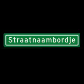 Straatnaambord KOKER 90x15cm - max. 16 karakters - GROEN straat, straatnaamborden, naambord, straatbord, kokerbord, NEN, officieel, wegnaam, sign, street, 900, 90