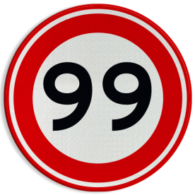 Verkeersbord Maximumsnelheid in kilometer per uur Verkeersbord RVV A01-000 - Vrij invoerbaar km, a1, 10, 15, 6, 5km, maximale snelheid, maximalesnelheid, maximumsnelheid, maximum snelheid, snelheidsbord
