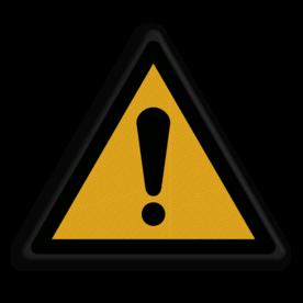 Product Algemene waarschuwing Veiligheidspictogram - Algemene Waarschuwing - W001 Algeem, waarschuwing, pas op