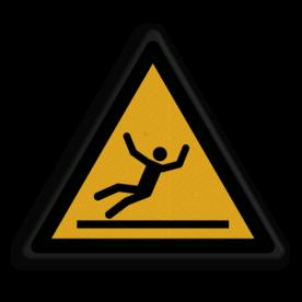 Veiligheidspictogram Waarschuwing gladde vloer Veiligheidspictogram - Gladde vloer - W011 Glad, vloer, uitglijden, uitglijdings gevaar