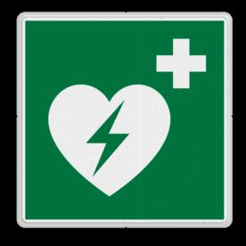 Veiligheidspictogram Locatie hartmachine Veiligheidspictogram - AED - E010 hartmachine