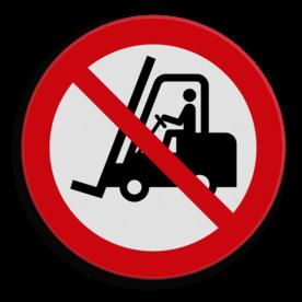 Veiligheidspictogram Geen heftrucks toegestaan Veiligheidspictogram - Verboden voor industriële voertuigen - P006  heftruck, machine, apparaat