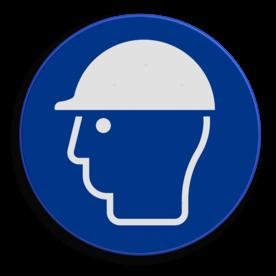 Veiligheidspictogram - Helm dragen verplicht - M014 NEN7010, veiligheidspictogram