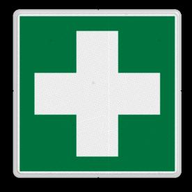 Veiligheidspictogram Hulp kruis locatie Veiligheidspictogram - Eerste hulp - E003 Hulp kruis, EHBO, help, eerste hulp