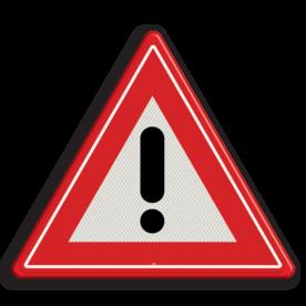 Verkeersbord Algemeen gevaarteken Verkeersbord RVV J37 - Vooraanduiding gevaar J37 gevarendriehoek, uitroepteken, driehoekbord, let op, pas op, J37