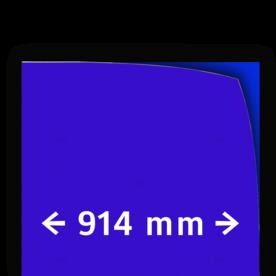 Reflecterende folie kl.1 blauw 914mm breed reflex, fluoricerend, reflecterend, retroreflex, retroreflecterend, retro, bordfolie, signface