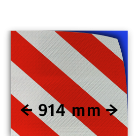 Reflecterende folie kl.3 wit/rood 914mm breed reflex, fluoricerend, reflecterend, retroreflex, retroreflecterend, retro, bordfolie, signface